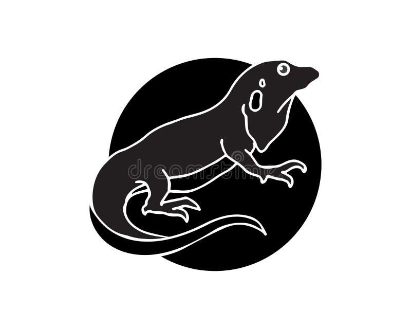 ?dla, design, djur och reptil, gecko royaltyfri illustrationer