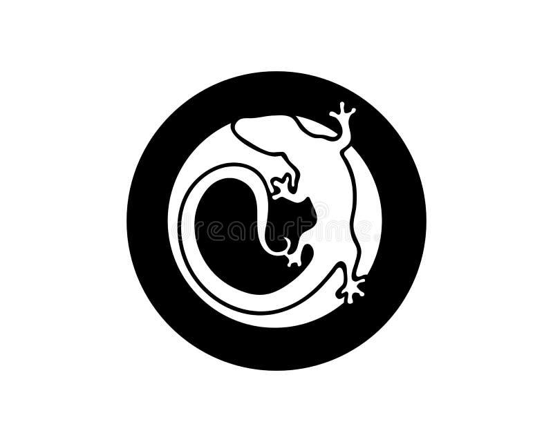 ?dla, design, djur och reptil, gecko vektor illustrationer