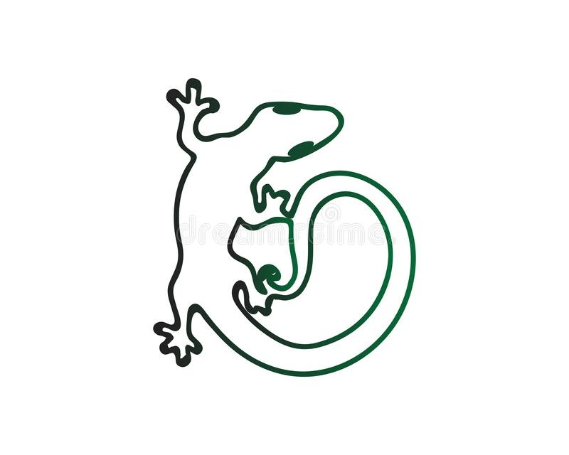 ?dla, design, djur och reptil, gecko stock illustrationer