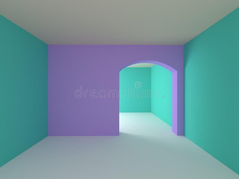 Dla dzieci pusty pokój ilustracja wektor