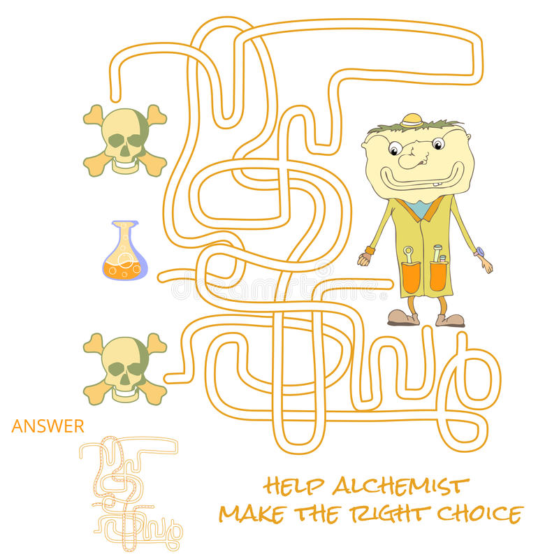 Dla dzieciaków labirynt gra ilustracji