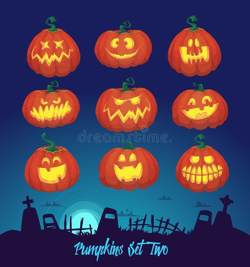 Dla Halloween ustalone banie ilustracja wektor
