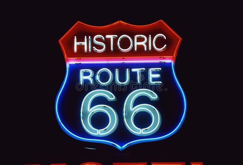 Dla Historycznej Trasy droga Znak 66 fotografia stock