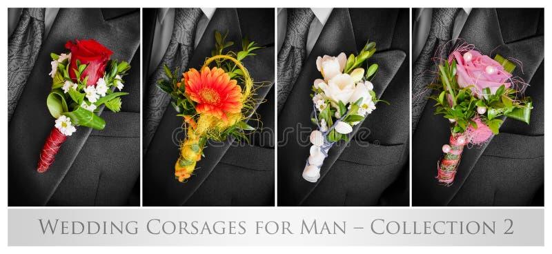 Dla mężczyzna ślubni corsages obrazy stock