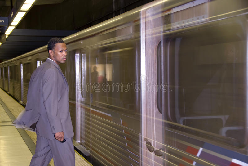 Dla metra biznesowy czekanie fotografia royalty free