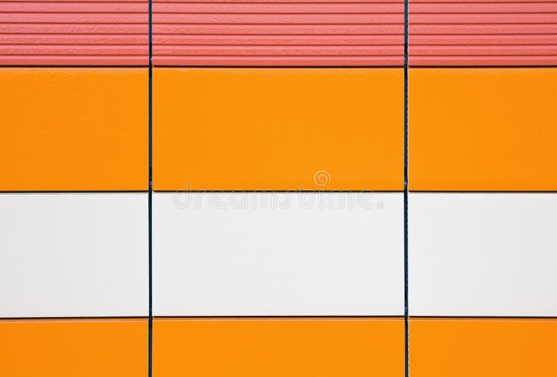 Dla powlekanie powierzchowności pomarańczowe i beżowe płytki obrazy stock