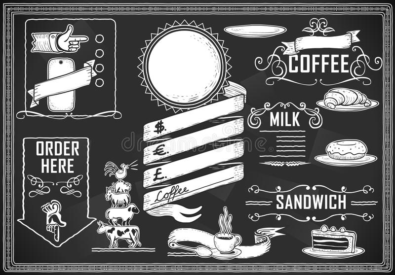 Dla prętowego menu graficzny rocznika element ilustracji