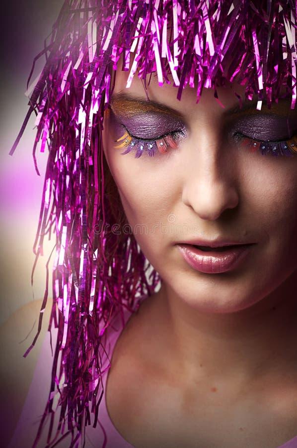 Dla przyjęcia splendoru jaskrawy makijaż zdjęcie royalty free