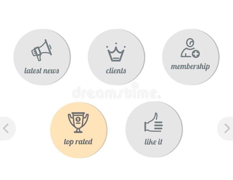 Dla sieci proste ikony ilustracja wektor