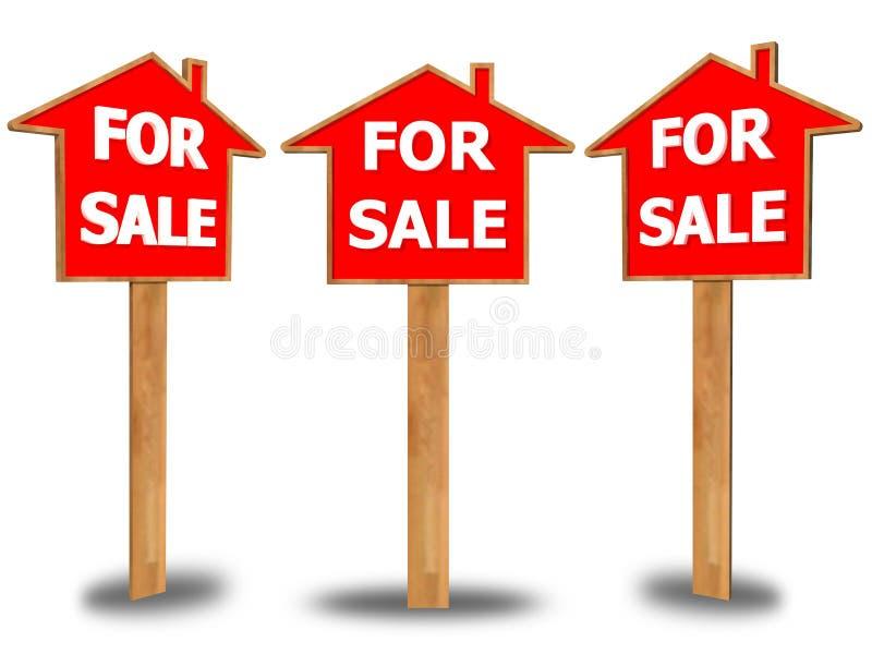 Dla sprzedaż znaka na białym tle obrazy stock