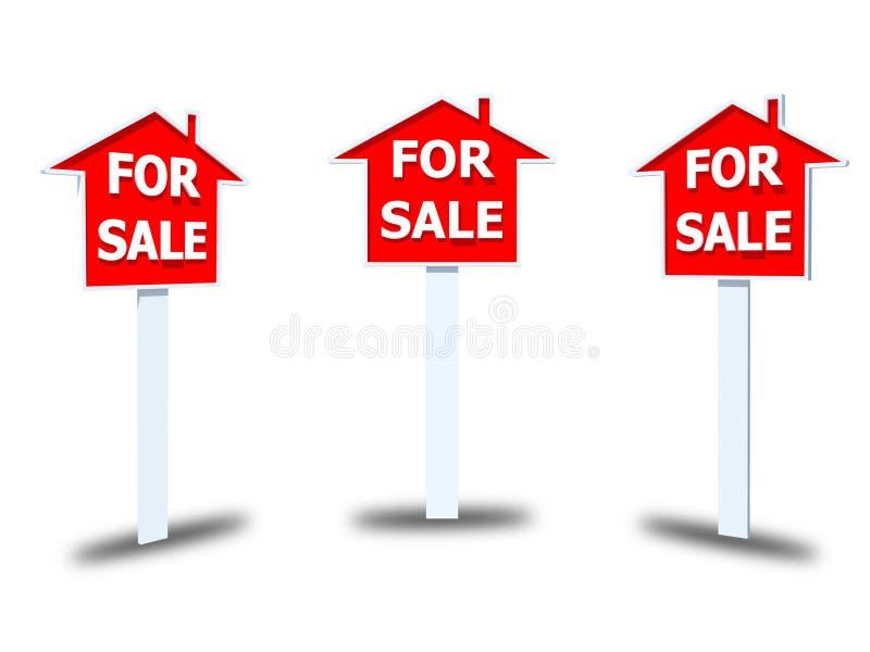 Dla sprzedaż znaka na białym tle zdjęcie royalty free
