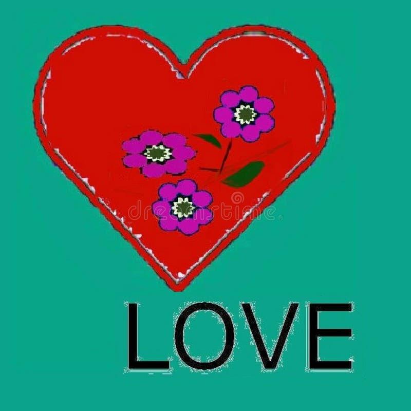 Dla tamto kochają i chcą kochającym ten obrazkiem - wzór ilustracja wektor
