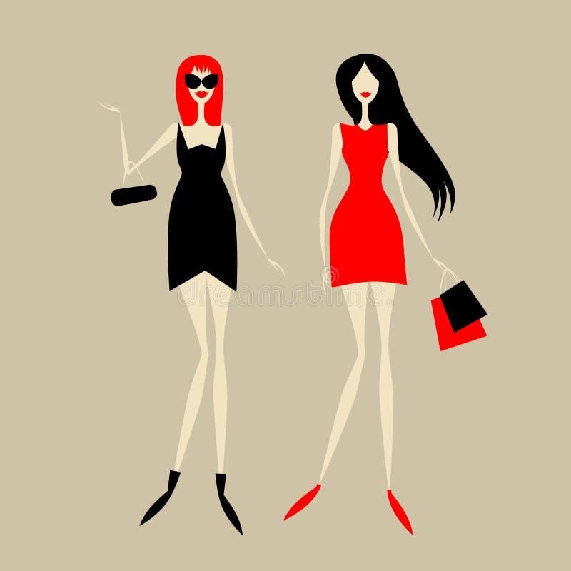 Dla twój projekta mod dziewczyny royalty ilustracja