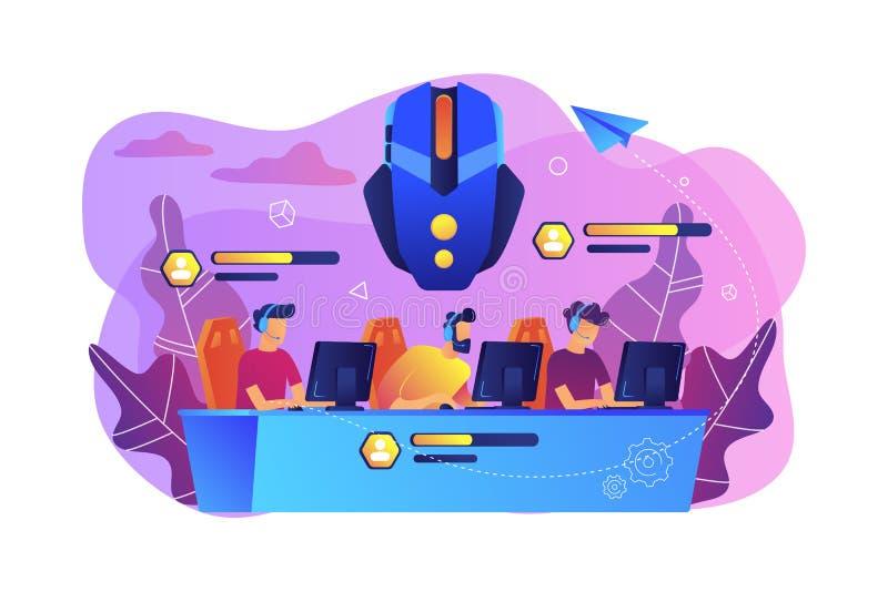 Dla wielu graczy online batalistyczna areny pojęcia wektoru ilustracja ilustracja wektor