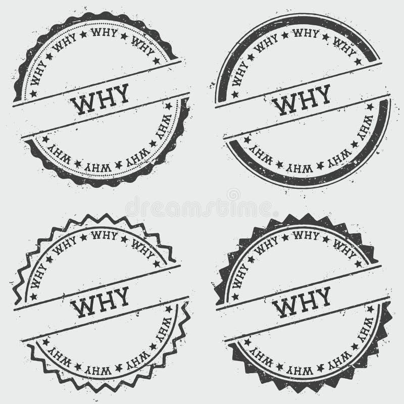 Dlaczego insygnia znaczek odizolowywający na białym tle royalty ilustracja