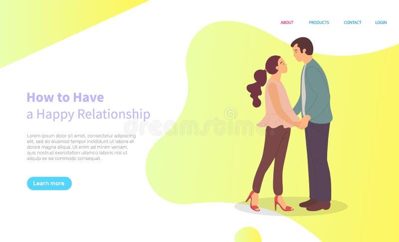 Dlaczego Mieć Szczęśliwe związek postacie z kreskówki royalty ilustracja