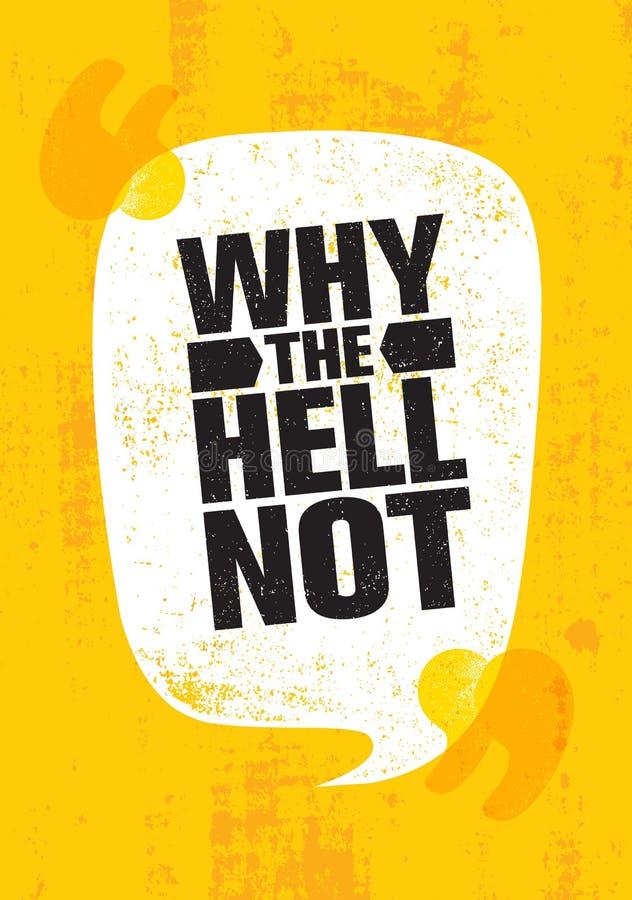 Dlaczego Nie Inspirować Kreatywnie motywaci wycena plakata szablon Wektorowy typografia sztandaru projekta pojęcie ilustracja wektor