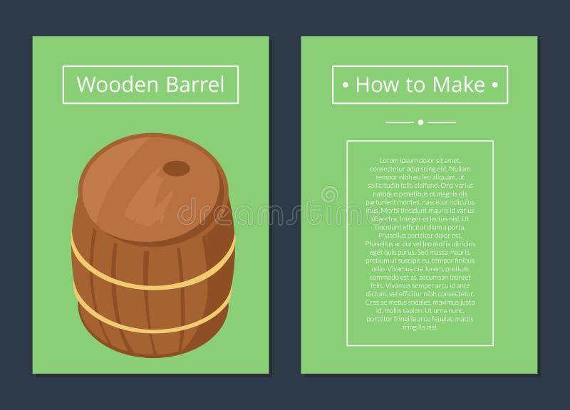 Dlaczego Robić Drewnianemu baryłka setowi plakaty z tekstem royalty ilustracja