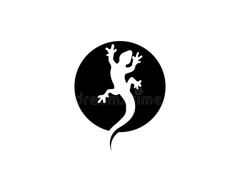 ?dlavektor, design, djur och reptil, gecko royaltyfri illustrationer