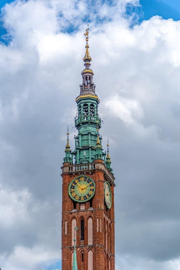 Dluga Targ大街在格但斯克波兰 免版税库存图片