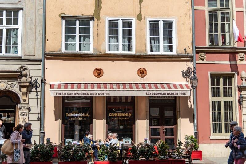 Dluga Targ la rue principale ? Danzig Pologne photographie stock libre de droits