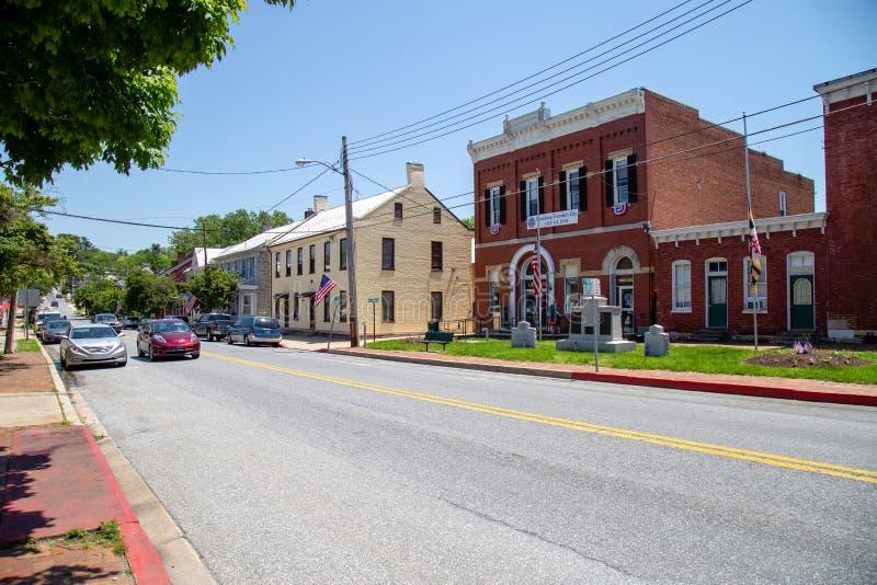 A DM Main Street de Sharpsburg fotografia de stock royalty free