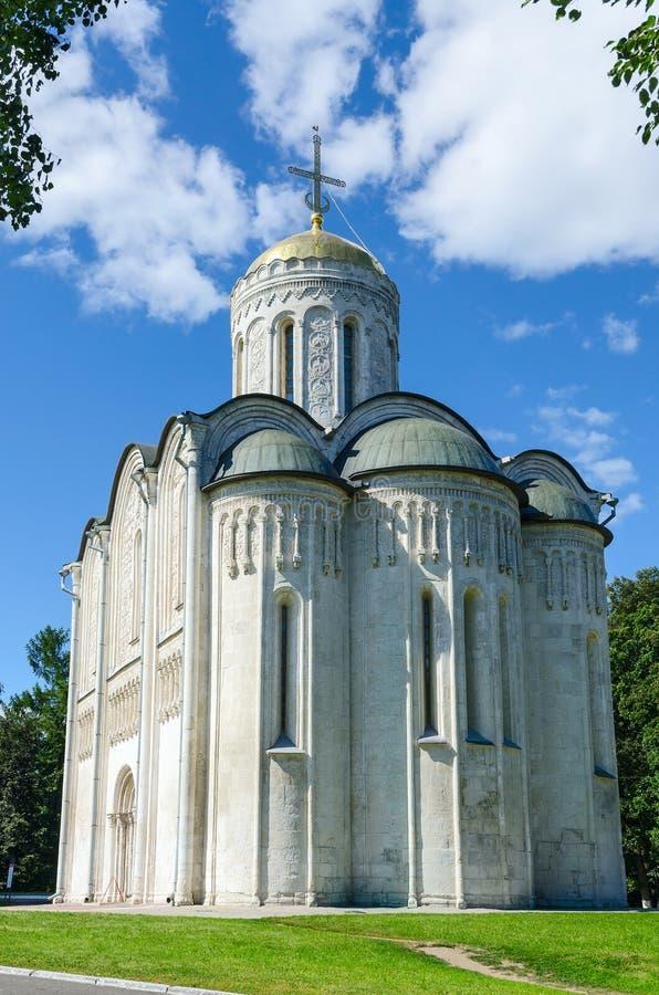 Dmitrievsky (Dmitrovsky)大教堂在弗拉基米尔 库存图片