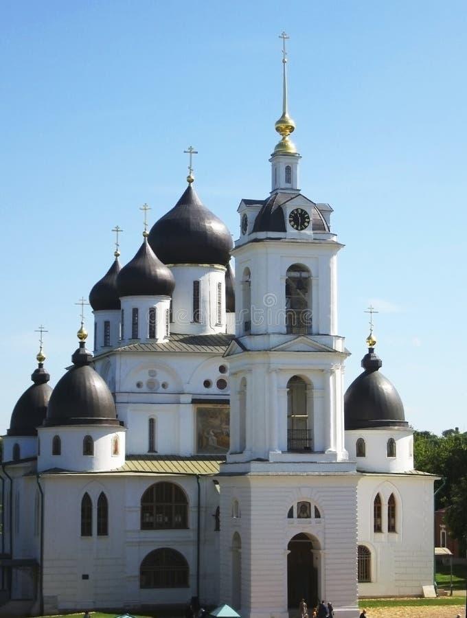 Dmitrov, Russsia, catedral de Uspenskiy fotos de stock
