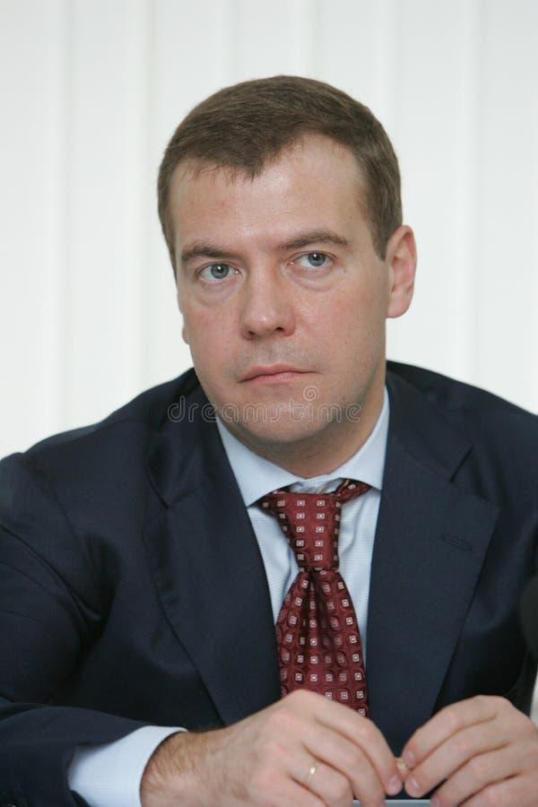 Dmitry Medvedev royalty-vrije stock afbeeldingen