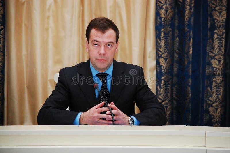 Dmitry Medvedev foto de archivo