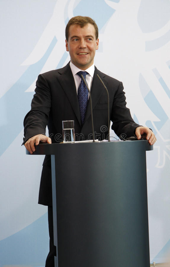 Dmitry Medvedev (Dmitri Medwedew) lizenzfreies stockfoto