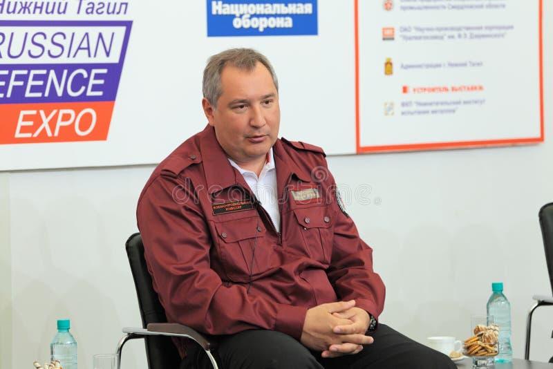 Dmitry Rogozin royalty-vrije stock afbeeldingen