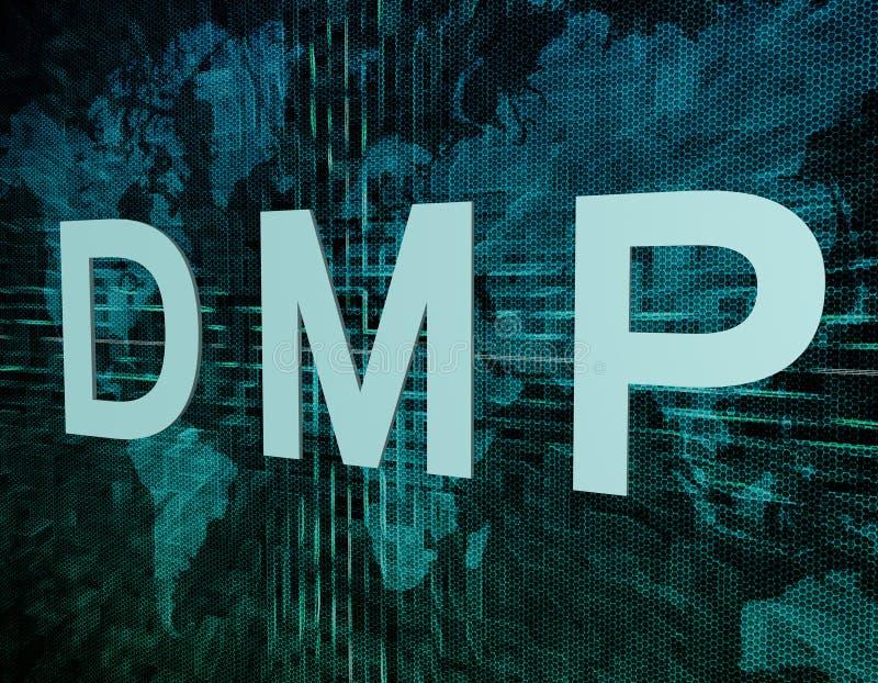 DMP-Concept stock illustratie