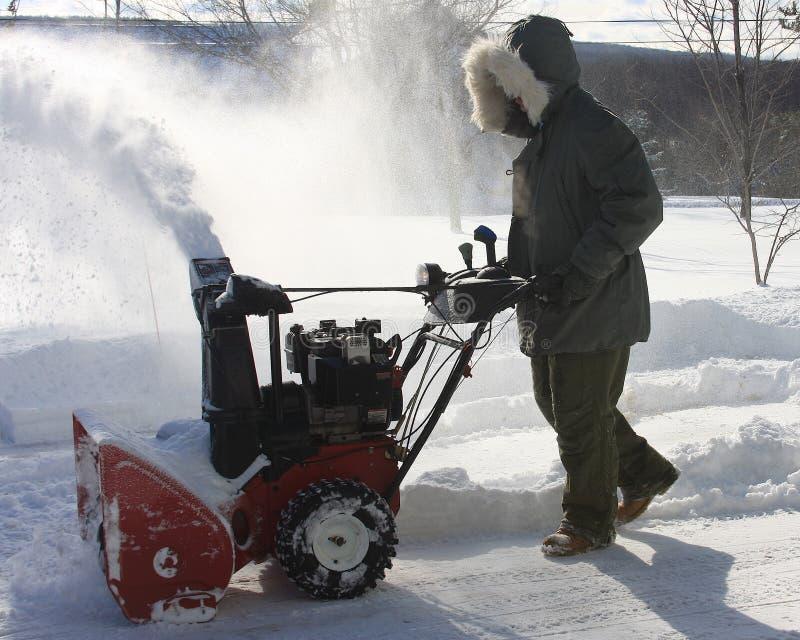 dmuchawa śnieg zdjęcie royalty free