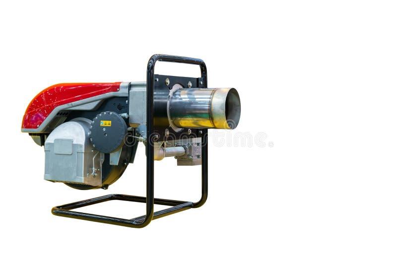 Dmuchawa i elektryczny silnik dla przemysłowy odosobnionego na białym tle z kopii przestrzenią zdjęcie stock