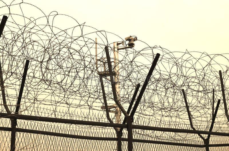 DMZ fences royalty free stock images