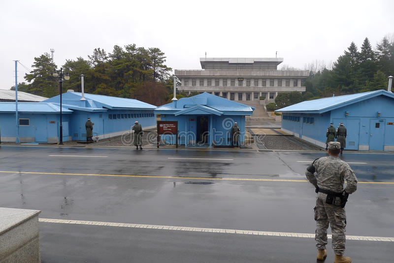Download DMZ - Panmunjeom editorial stock photo. Image of barracks - 24112043