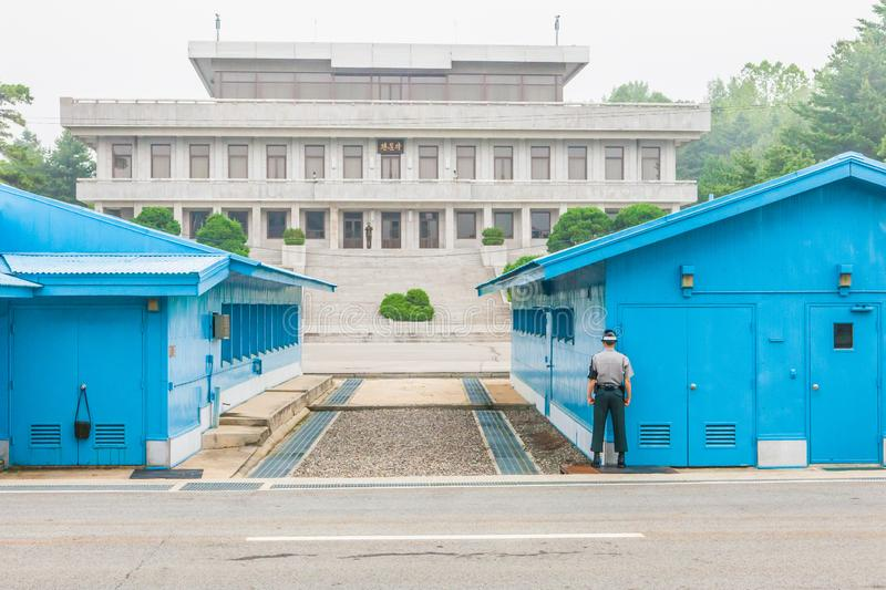 The DMZ stands for demilitarised zone and is the border zone stock image
