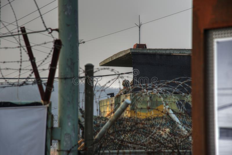 DMZ Zuid-Korea royalty-vrije stock fotografie