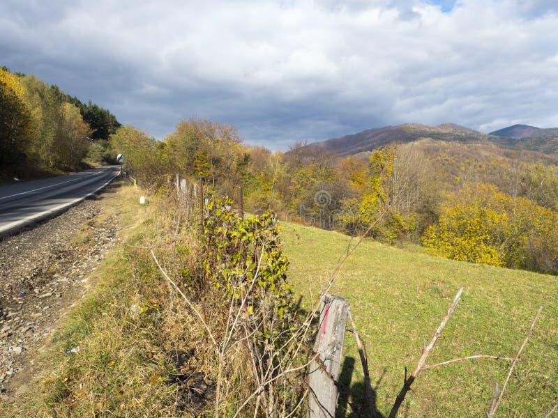 DN1A national road, Romania, near Măneciu lake royalty free stock photos
