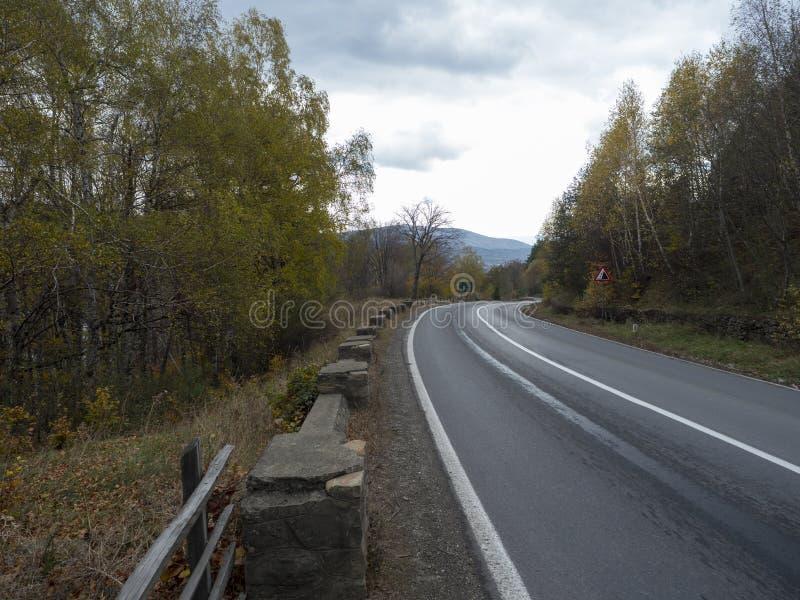 DN1A national road, Romania, near Măneciu lake royalty free stock photography