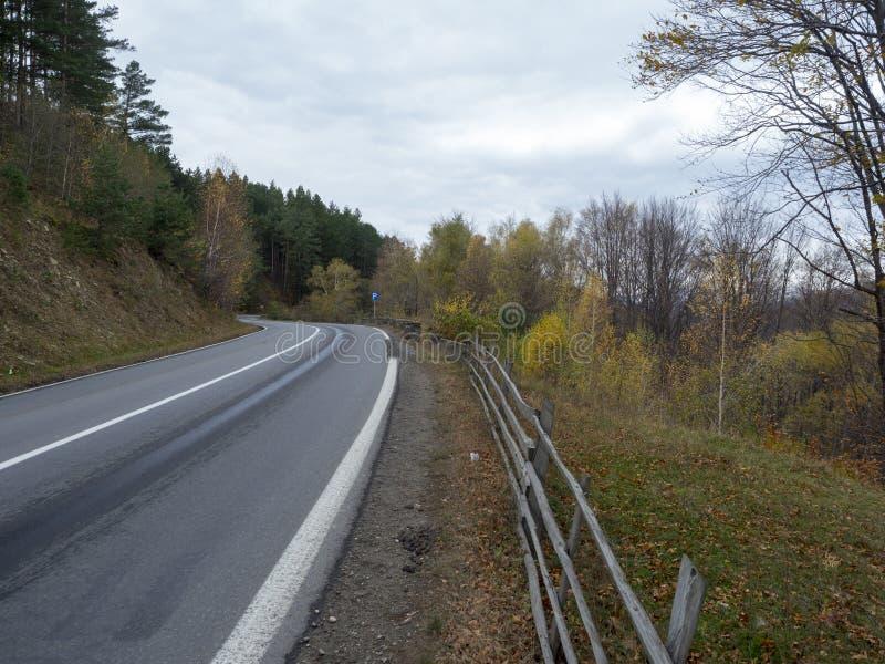 DN1A national road, Romania, near Măneciu lake royalty free stock photo