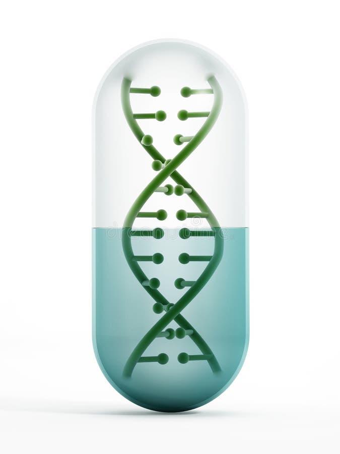 DNA μέσα στο χάπι απεικόνιση αποθεμάτων