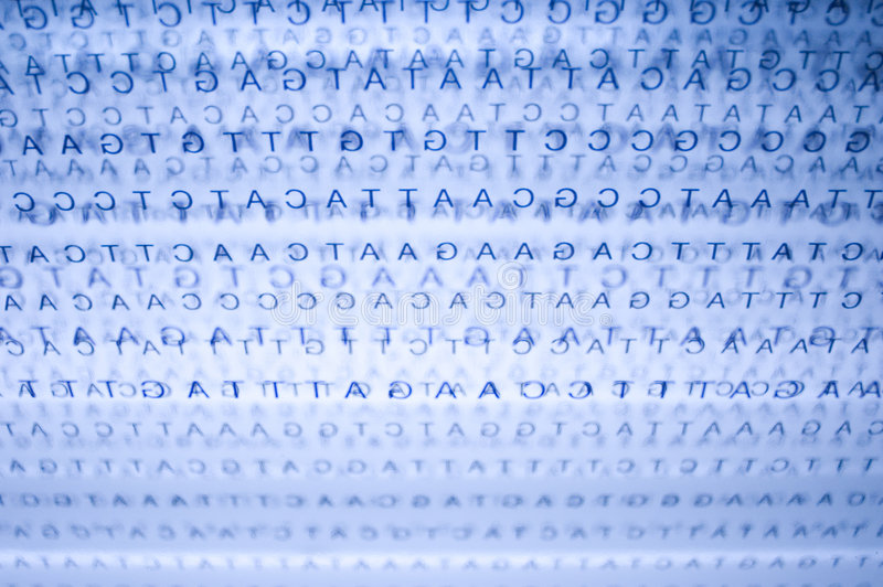 Dna. Chain in a blue background