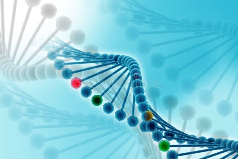 Download Dna stock illustration. Image of adenine, blue, molecule - 16188084