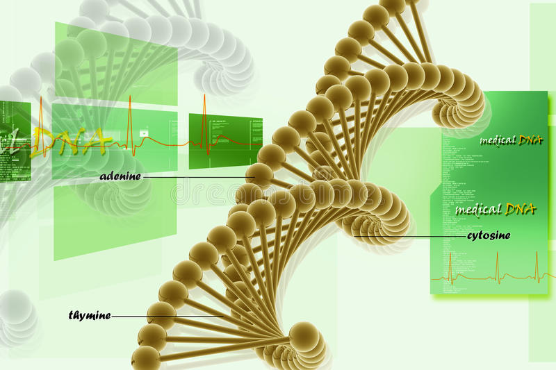 Download Dna stock illustration. Image of abstract, molecule, microscopic - 16188251