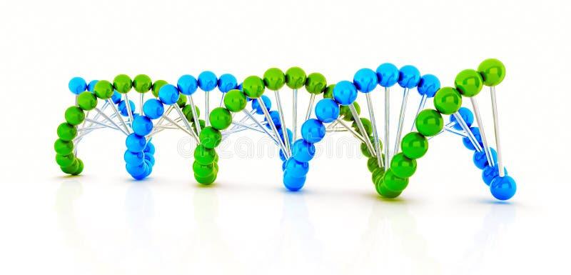 DNA 3d übertragen stock abbildung