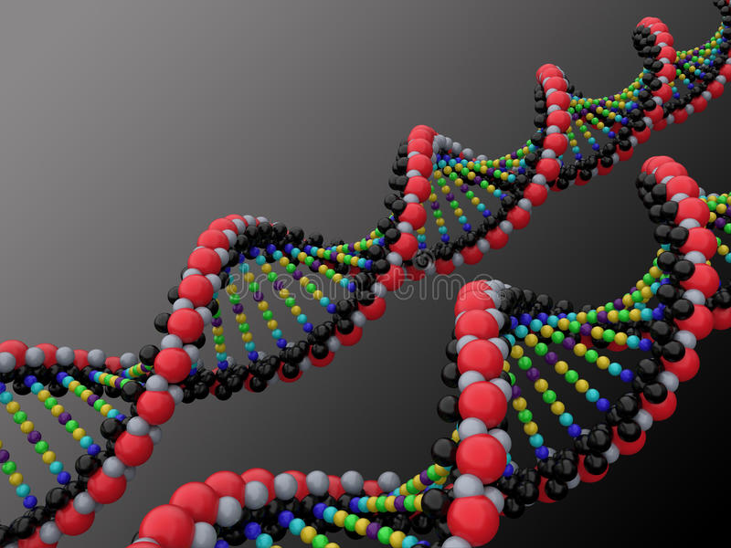 DNA 3d libre illustration
