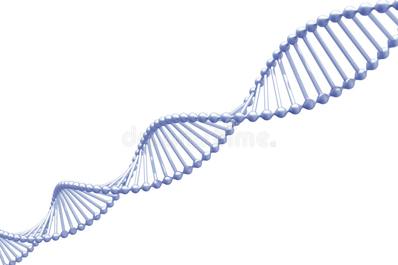 DNA. 3d render of DNA isolated on white stock illustration