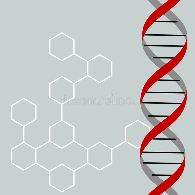 DNA royalty-vrije illustratie